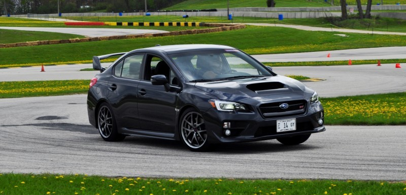 Track Test Review - 2015 Subaru WRX STI Is Brilliantly Fast, Grippy and Fun on Autocross 18