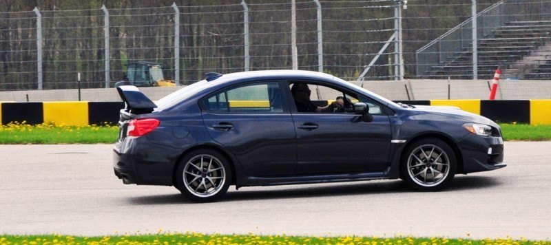 Track Test Review - 2015 Subaru WRX STI Is Brilliantly Fast, Grippy and Fun on Autocross 22