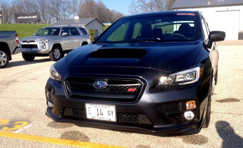 Track Test Review - 2015 Subaru WRX STI Is Brilliantly Fast, Grippy and Fun on Autocross 26