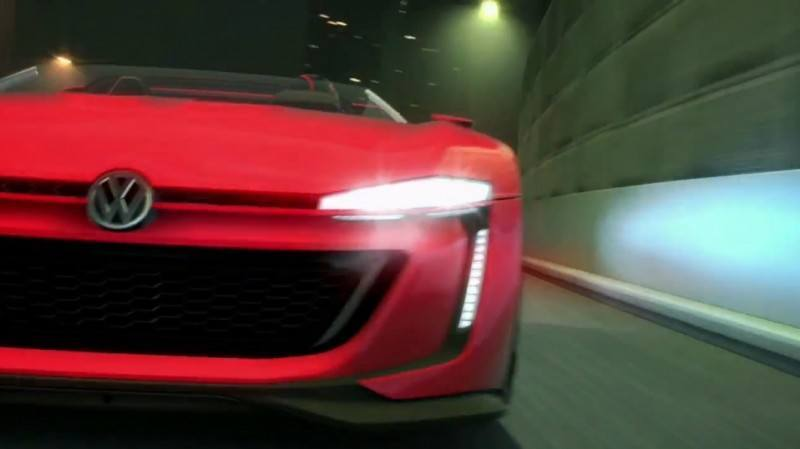 Volkswagen GTI Roadster Vision Gran Turismo Scores 4Motion and 500HP Twin-Turbo VR6 1