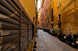 Streets of old Rome