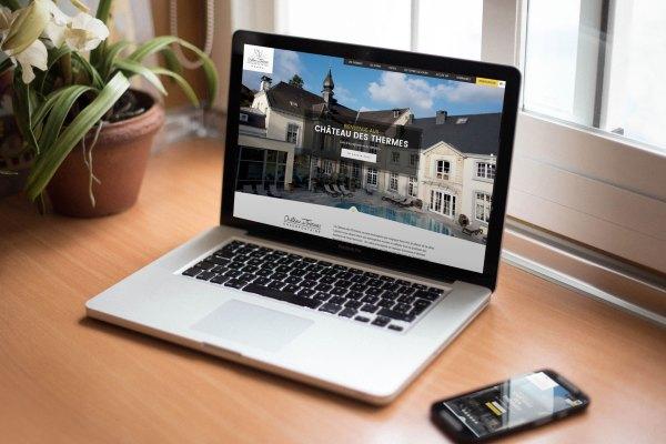 Château des Thermes - Chaudfontaine - Thermes - Thalasso - Soins - Sauna - Hammam - Bains - Restaurant - Suite - Week-end romantique - Cadeau idéal - Caractère Advertising - Agence marketing - Site web - Digital marketing - Online - e-Commerce - Site e-Commerce - Boutique en ligne - Mock-up site web Responsive