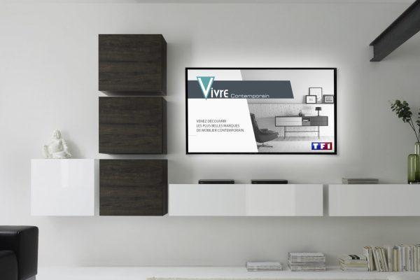 vivre contemporain - publicité - télévision - TF1 - Caractère Advertising