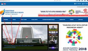 Pengumuman Hasil Tes SKD CPNS Kementerian BUMN 2017