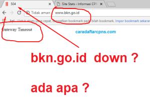 Jelang Pengumuman Formasi CPNS 2018 Website bkn.go.id Down