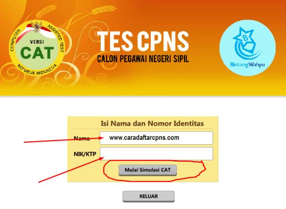 Cara Cetak Kartu Pendaftaran Online CPNS sscn.bkn.go.id