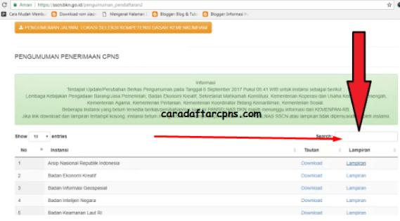 Download Contoh Surat Lamaran Pernyataan CPNS Seluruh Instansi