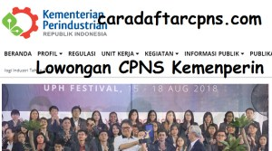 Pengumuman Hasil Tes Kompetensi Dasar SKD CPNS Kemenperin 2018