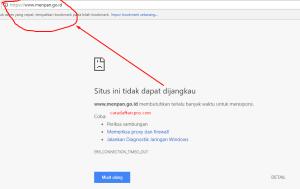 Jelang Pendaftaran CPNS 2018 Website BKN Kemenpan Down Tidak Bisa Dibuka