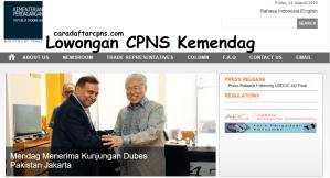 Pedoman Pendaftaran CPNS Kemendag Kementerian Perdagangan 2018 SMA SMK D3 S1