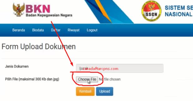 Cara Upload Dokumen Persyaratan CPNS_8