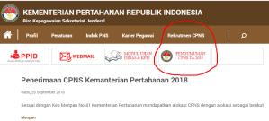 Pengumuman Hasil Tes SKD CPNS Kemenhan 2018