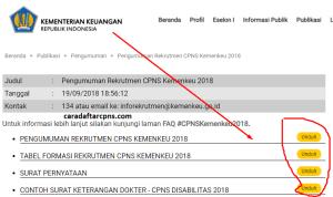 Hasil Akhir Seleksi CPNS Kemenkeu 2018