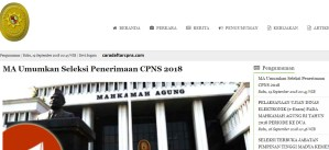 Hasil Seleksi Kompetensi Dasar SKD CPNS MA 2018