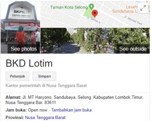 Pengumuman Hasil Tes SKD CPNS Kabupaten Lombok Timur 2018