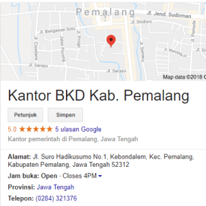 Hasil Akhir Seleksi CPNS Kabupaten Pemalang 2018
