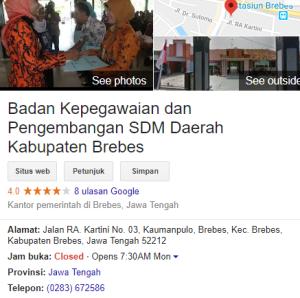 Jadwal dan Lokasi Tes SKD CPNS Kabupaten Brebes 2018