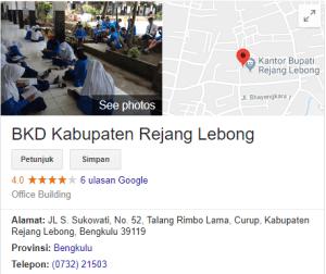 Jadwal dan Lokasi Tes SKD CPNS Kabupaten Rejang Lebong 2018