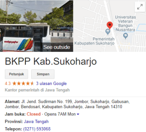 Pengumuman Hasil Tes SKD CPNS Kabupaten Sukoharjo 2018