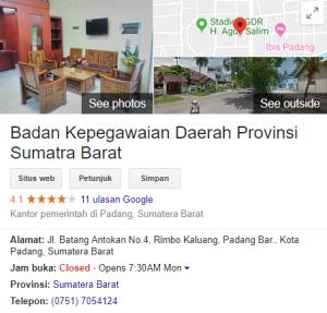 Jadwal dan Lokasi Tes SKD CPNS Provinsi Sumatera Barat 2018