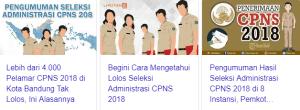 Hasil Akhir Seleksi CPNS Kota Bandung 2018