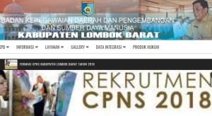 Pengumuman Hasil Tes SKD CPNS Kabupaten Lombok Barat 2018