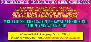 Hasil Akhir Seleksi CPNS Kabupaten Deli Serdang 2018