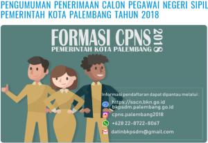 Hasil Akhir Seleksi CPNS Kota Palembang 2018