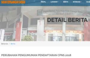 Pengumuman Hasil Tes SKD CPNS Kabupaten Malang 2018