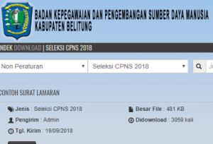 Pengumuman Hasil Tes SKD CPNS Kabupaten Belitung 2018