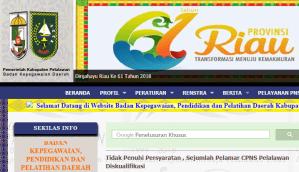 Hasil Akhir Seleksi Administrasi CPNS Kabupaten Palalawan 2018