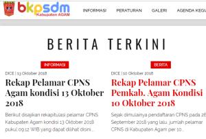 Pengumuman Hasil Tes SKD CPNS Kabupaten Agam 2018