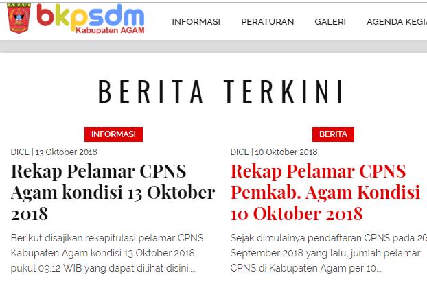 Hasil Akhir Seleksi Administrasi Cpns Kabupaten Agam 2018