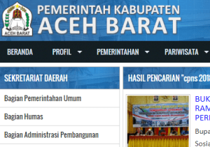 Hasil Akhir Seleksi Administrasi CPNS Kabupaten Aceh Barat 2018