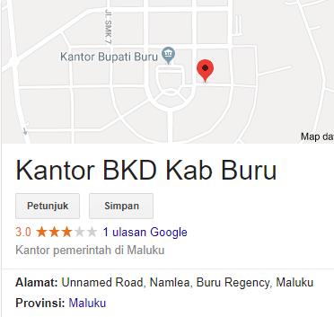 Pengumuman Hasil Tes Skd Cpns 2018 Kabupaten Buru
