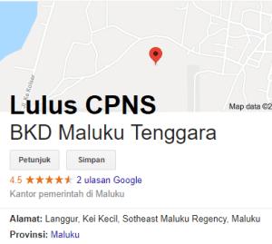 Pengumuman Hasil Tes SKD CPNS 2018 Kabupaten Maluku Tenggara