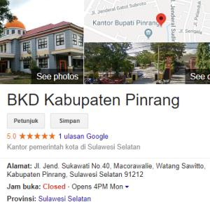 Pengumuman Hasil Tes SKD CPNS 2018 Kabupaten Pinrang