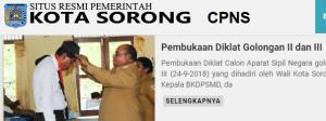 Pengumuman Hasil Tes SKD CPNS 2018 Kota Sorong