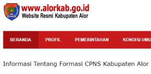 Pengumuman Hasil Tes SKD CPNS Kabupaten Alor 2018