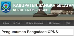 Pengumuman Hasil Tes SKD CPNS Kabupaten Bangka Selatan 2018