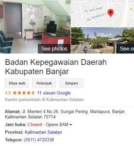 Pengumuman Hasil Tes SKD CPNS Kabupaten Banjar 2018