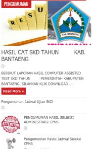 Pengumuman Hasil Tes CAT SKD CPNS Kabupaten Bantaeng 2018