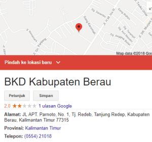 Pengumuman Hasil Tes SKD CPNS Kabupaten Berau 2018