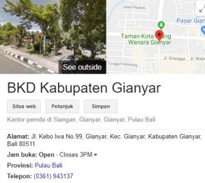 Pengumuman Hasil Tes SKD CPNS Kabupaten Gianyar 2018