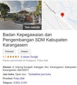 Pengumuman Hasil Tes SKD CPNS Kabupaten Karangasem 2018