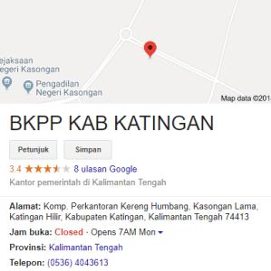 Pengumuman Hasil Tes CAT SKD CPNS Kabupaten Katingan 2018