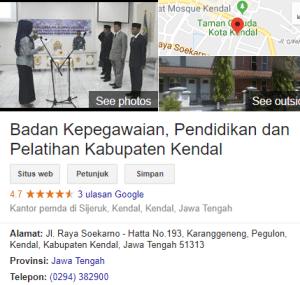 Pengumuman Hasil Tes SKD CPNS Kabupaten Kendal 2018