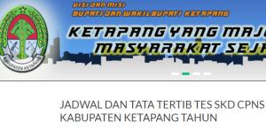 Pengumuman Hasil Tes SKD CPNS Kabupaten Ketapang 2018