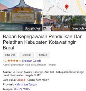 Pengumuman Hasil Tes CAT SKD CPNS Kabupaten Kotawaringin Barat 2018