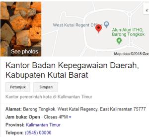 Pengumuman Hasil Tes SKD CPNS Kabupaten Kutai Barat 2018
